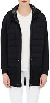 Moncler Women's Wool Zip-Front Puffer Sweater