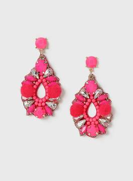 Dorothy Perkins Pink Bead and Pom Earrings