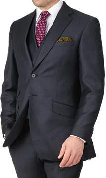 Charles Tyrwhitt Blue Slim Fit British Serge Puppytooth Luxury Suit Wool Jacket Size 36