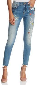 Aqua Embellished Skinny Jeans in Medium Wash - 100% Exclusive