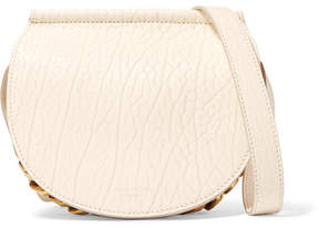 Givenchy Infinity Mini Chain-trimmed Textured-leather Shoulder Bag - White
