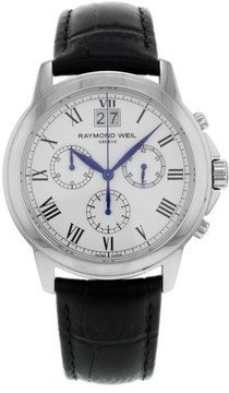 Raymond Weil 4476-STC-00300 Stainless Steel / Leather Quartz 39mm Mens Watch