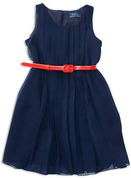 Polo Ralph Lauren Girls' Pleated Georgette Dress - Little Kid