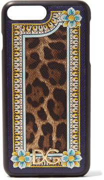Dolce & Gabbana Printed Textured-leather Iphone 7 Plus Case - Leopard print