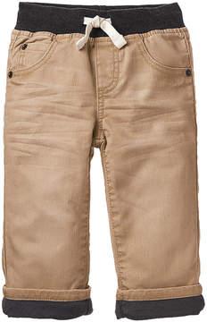 Gymboree Khaki Lined Twill Pants - Infant