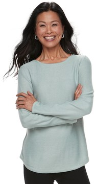 Croft & Barrow Women's Marled Crewneck Sweater