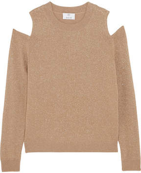 Allude Cold-shoulder Metallic Wool And Cashmere-blend Sweater - Gold