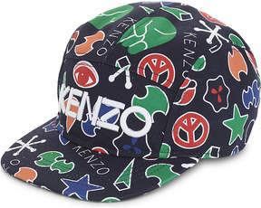 Kenzo Peace print cotton baseball cap 5-16 years