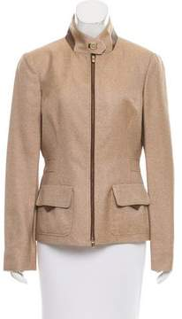 Agnona Silk Leather-Trimmed Jacket w/ Tags