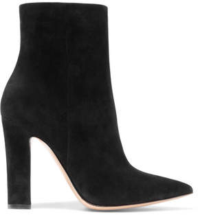 Gianvito Rossi 105 Suede Ankle Boots - Black