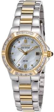 Citizen Womens Riva Diamonds Solar Stainless Steel Watch