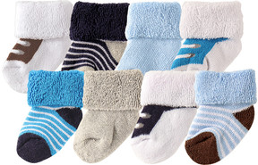 Luvable Friends Blue & Black Socks Set - Infant