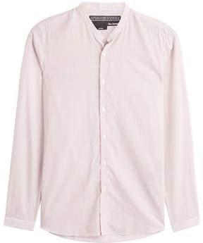 The Kooples Striped Cotton Blend Shirt