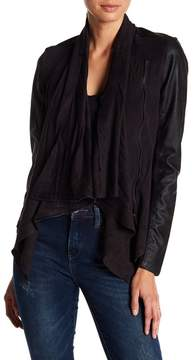 Blank NYC BLANKNYC Private Practice Faux Leather & Faux Suede Draped Jacket