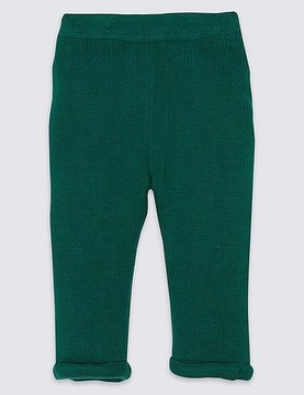 Marks and Spencer Pure Cotton Knitted Trousers