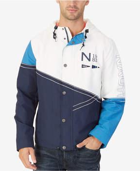 Nautica Men's Colorblocked Hooded Jacket