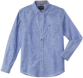 Nautica Boys' Long Sleeve Woven Shirt