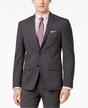 Bar III Men's Extra-Slim Fit Gray/Black Mini-Grid Suit Jacket, Created for Macy's