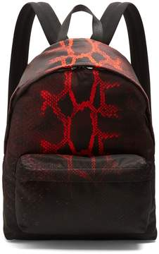 Givenchy Python-print nylon backpack