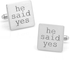 Asstd National Brand He Said Yes Cuff Links