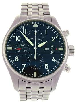 IWC Pilots IW377704 Stainless Steel Chronograph Automatic Black 43mm Mens Watch