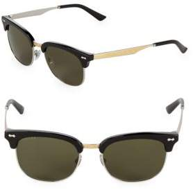 Gucci Tinted 52MM Clubmaster Sunglasses