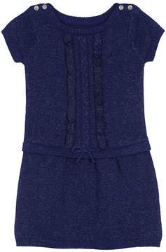 Nautica Girls' Ruffle Sweaterdress