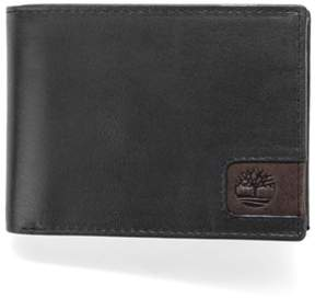 Timberland Cloudy Leather Passcase Wallet.