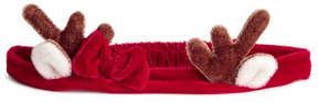 H&M Velour Hairband - Red