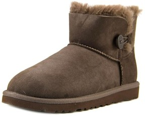 UGG Mini Bailey Button Youth US 6 Brown Winter Boot