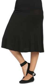 24/7 Comfort Apparel Women's Calf-Length Skirt