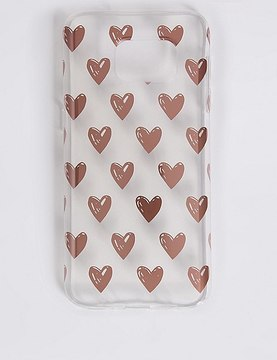 Marks and Spencer Samsung S7® Heart Print Phone Case