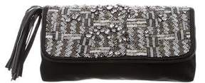 Nicole Miller Embellished Satin Clutch