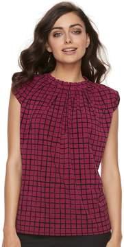 Elle Women's Pleated Mockneck Top