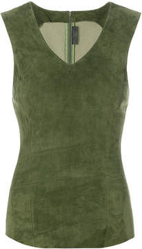 Drome panelled fitted top