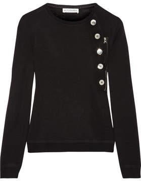 Altuzarra Collier Button-embellished Merino Wool Sweater - Black
