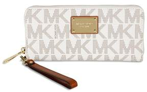MICHAEL Michael Kors Jet Set Travel Continental Wristlet Logo Wallet - VANILLA/GOLD - STYLE