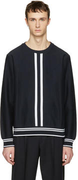 Paul Smith Navy Racer Stripe Pullover