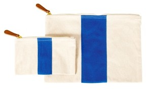 Cathy's Concepts Personalized Canvas Clutch - Blue