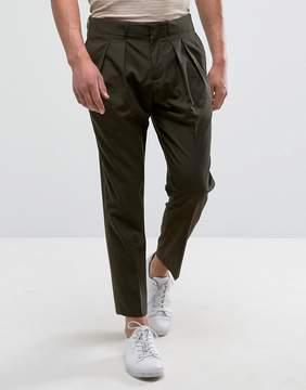 MANGO Man Slim Fit Pleated Pants In Khaki