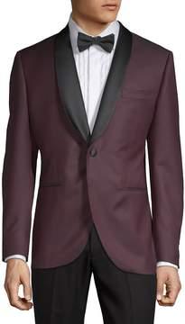 Lubiam Men's Diamond-Print Tuxedo Jacket