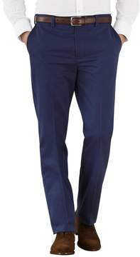 Charles Tyrwhitt Marine Blue Slim Fit Flat Front Non-Iron Cotton Chino Pants Size W30 L32
