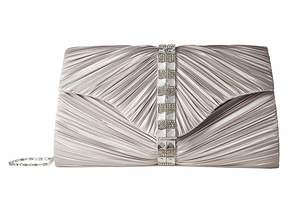 Jessica McClintock Florence Satin with Pleats and Stones Handbags