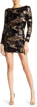Dress the Population Lola Long Sleeve Scoop Back Dress