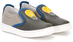 Fendi lightbulb embroidered sneakers