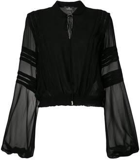 Capucci long-sleeve sheer blouse