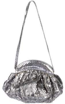 Nancy Gonzalez Metallic Pleated Snakeskin Bag