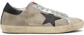 Golden Goose Deluxe Brand Grey and Black Suede Superstar Sneakers