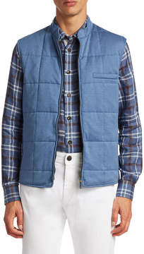 Luciano Barbera Men's Houndstooth Quilted Vest