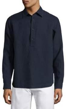 Orlebar Brown Long Sleeves Linen Polo Shirt
